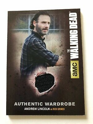 The Walking Dead Season 4 M25 Rick Grimes Wardrobe Card Andrew Lincoln