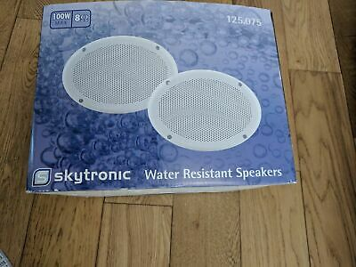 SkyTronic Water Resistant elliptical speakers (pair) 100w 4 ohm. Not JBL or Bose