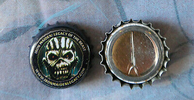 IRON MAIDEN cap button BOOK OF SOULS Legacy of the beast TROOPER beer Hallowed
