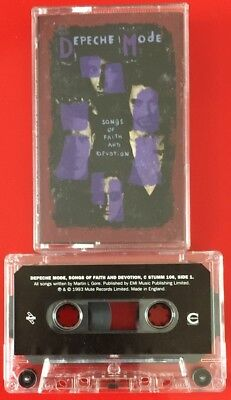 Depeche Mode Songs Of Faith And Devotion Cassette Tape Mute Paper Labels