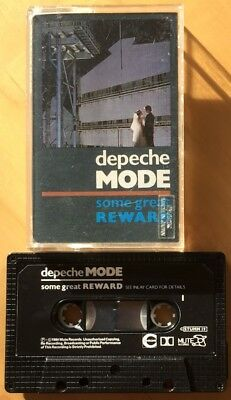 Depeche Mode Some Great Reward Cassette Tape Mute Rare Paper Labels