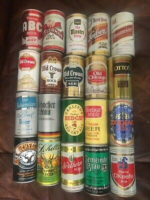 Empty Collectible Vintage 70's Steel Beer Cans (You Pick)