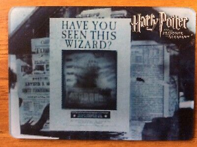 Trade Card Lenticular Motion Harry Potter Artbox Have You Seen This Wizard