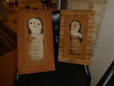 Pre Columbian Peru Chancay Textile Dolls (two)