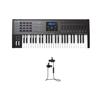 Arturia KeyLab 49 Mkii Black 49 Keyboard Controller w/ Force Audio Twin Earbuds