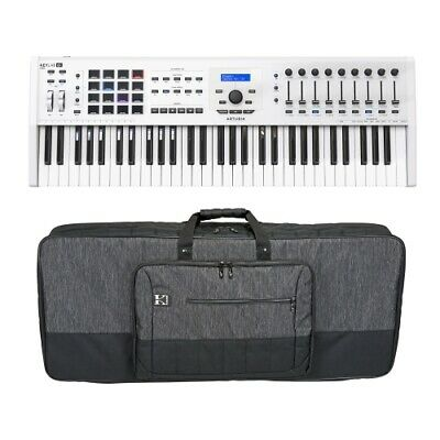 Arturia KeyLab 61Mkii 61 Key Keyboard Controller w/Kaces KB3916 Luxe Series Bag