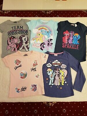 My Little Pony Girls Clothes Bundle Age 5-6 6 T-shirts Long Tops Next Mothercare