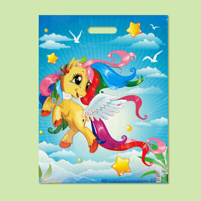 Pack of 50 ECO Pony Printed Plastic Gift/Shopping/Carrier Bags 40x50 cm