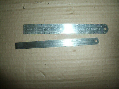 "2 x steel rulers...1 x ABC rules & measures 1940-6"" long stainless No 0501 Sword"