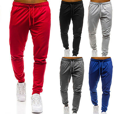 Men Sports Gym Cotton Sweatpants Slim Fit Workout Pants Joggers Running Trousers