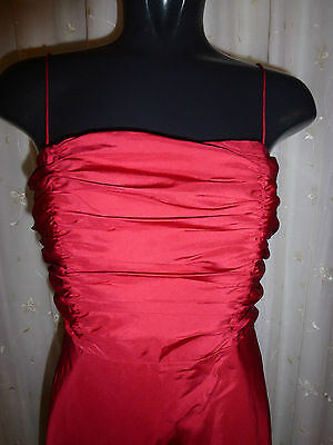 Monsoon Red Silk  Dress Size 08 Wedding PROM Party Races Cruise XMAS