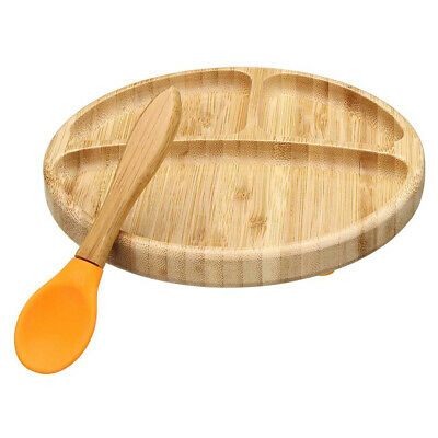 Removable Suction Bowl Baby Tableware Set Heat Insulation Bamboo Matching Spoon