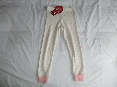 M&S Girls Cream with Pink Polka Dot Jogger Pants Size 3-4 Years