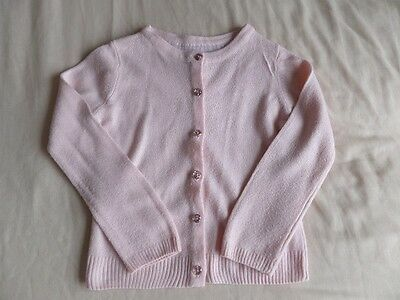 Young Dimension Girls Pale Pink Button Front Thin Cardigan Size 3-4 Years