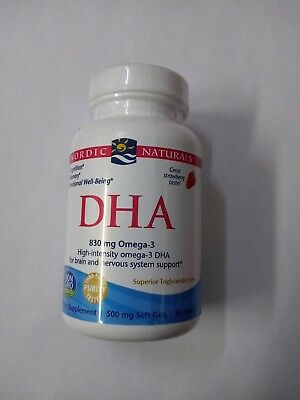 Nordic Naturals DHA 830-mg Omega-3 Dietary Supplement 90 ct~ New Sealed Bottle
