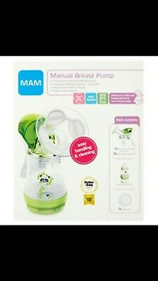 MAM Manual Breast Pump Green with bottle