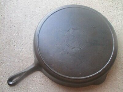 """""""Fully Restored!"""" Extremely Rare Griswold #14 Slant/Erie Logo Cast Iron Skillet"""