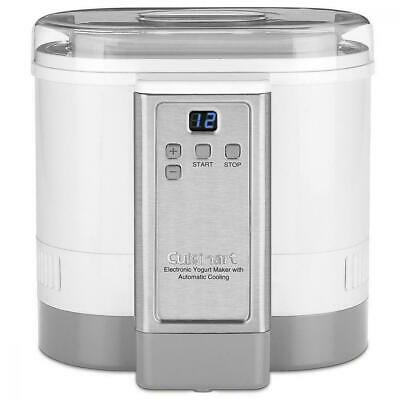 CYM-100C Cuisinart Electronic Yogurt Maker with Automatic Cooling, White