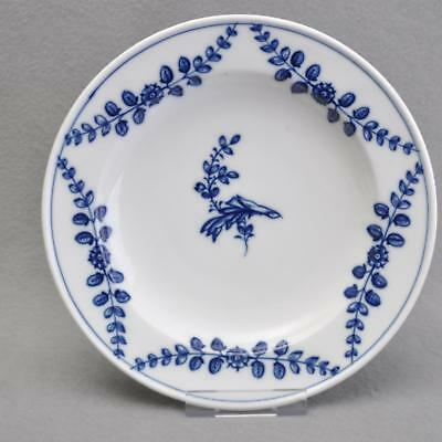 Meissen, Beautiful Antique Plate, Blue Painting, Flowers Tendril, um 1820,