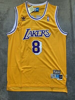 Kobe Bryant #8 Los Angeles Lakers Yellow Jersey Men