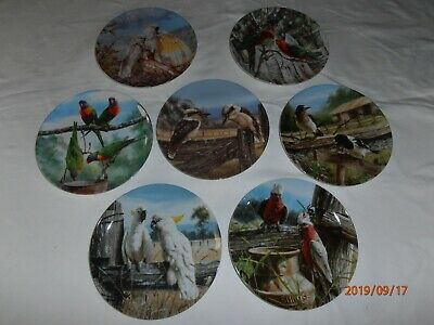 A Birds Eye View  collector plates - Numbers 1 to 7