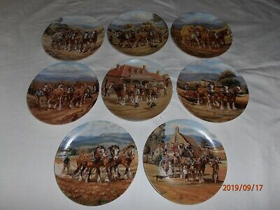 Our Might Clydesdale's - collector plates - Numbers 1 to 8  - Draft Horse Scenes