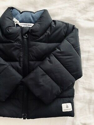 Country Road Baby Boy 3-6 Month Black Puffer Jacket BNWT