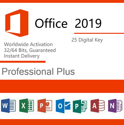 Microsoft Office 2019 Professional Plus Product Key License Retail INSTANT