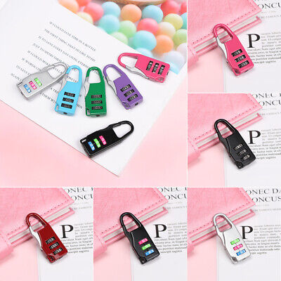 Combination Code Gym Luggage 3 Digit Dial Password Lock Security Tool Padlock