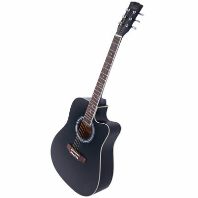 Glarry GT502 41inch Spruce Front Cutaway Folk Acoustic Guitar Gradient Red/Black
