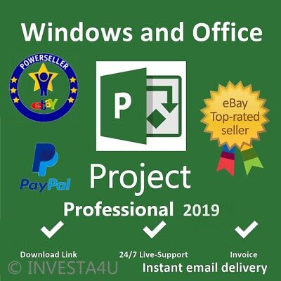 ✅ Microsoft Project Professional 2019 License Key 1 PC With Download Link ✅