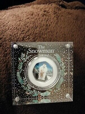 2019 UK Snowman and James Silver Proof 50p NEW
