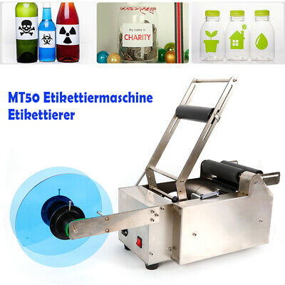 MT-50 Semi-Automatic Round Bottle Labeling Machine Labeler Electric 120W