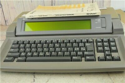 Sharp Font Writer FW-500 Personal Word Processor Floppy Disc PAT Tested