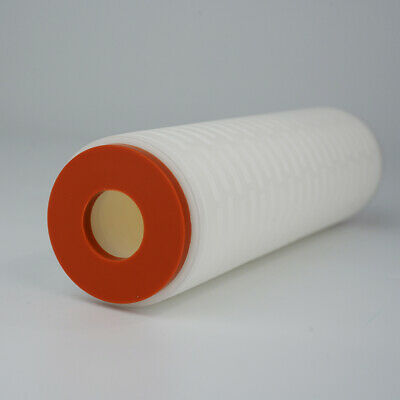 10 inches PolyPure-AB Absolute PP Pleated Cartridge Filter DOE, EPDM Oring, 1 μm