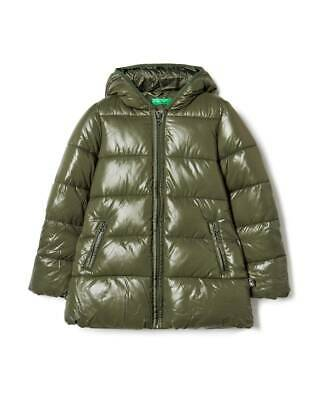Giubbotto Bambina UNITED COLORS OF BENETTON 2EO0538F0 Verde Militare Mis 8-9 Y
