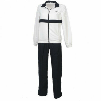 Completo Tuta Donna LOTTO SUIT NOA DB Q2395 Bianco/Blu Navy Acetato