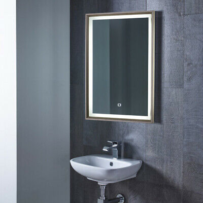 Electric White LED Lighted Wall Mirror Touch Sensor Bordered Unit for Dressing