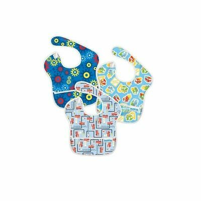 Bumkins Hippychick SuperBib 3 Pack (Fire Engines  Gears  Transport) 6-24 Months