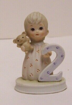 Lefton The Christopher Collection Porcelain Birthday Girl Age 8th Figurine 1982