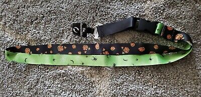 Disney Parks Pumpkin Mickey Mouse Reversible Halloween Lanyard