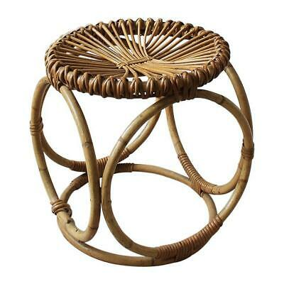 Vintage Italian Bamboo and Wicker Stool by Bonacina, 1950s