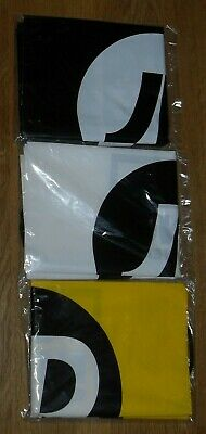 3 Pack JD Sports Drawstring Bags Black/White/Yellow   -NEW IN SEALED BAGS-