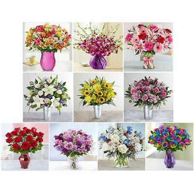 5D DIY Full Drill Diamond Painting Flower Vase Cross Stitch Embroidery Kit LY