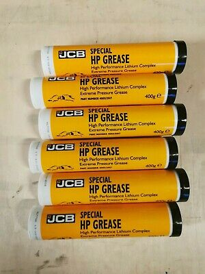 6X Jcb Special Hp Grease Lithium Complex 400G Tube Blue