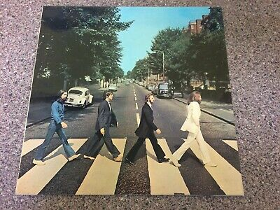The Beatles Abbey Road Stunning Early 1970's Laminate Sleeve Apple UK LP !