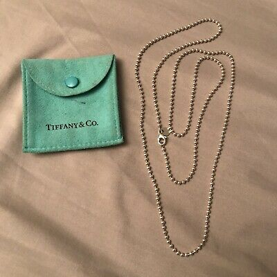 Tiffany & Co Sterling Silver Ball Bead Necklace Chain!