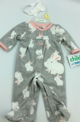 """Adorable Baby Doll Outfit For Reborn Infant Newborn Bunny Bow 17-18"""""""