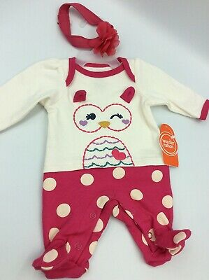 """Adorable Baby Doll Outfit For Reborn Infant Newborn Owl Bow 15-17"""""""