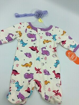 """Adorable Baby Doll Outfit For Reborn Infant Newborn Dinosaur Bow 15-17"""""""